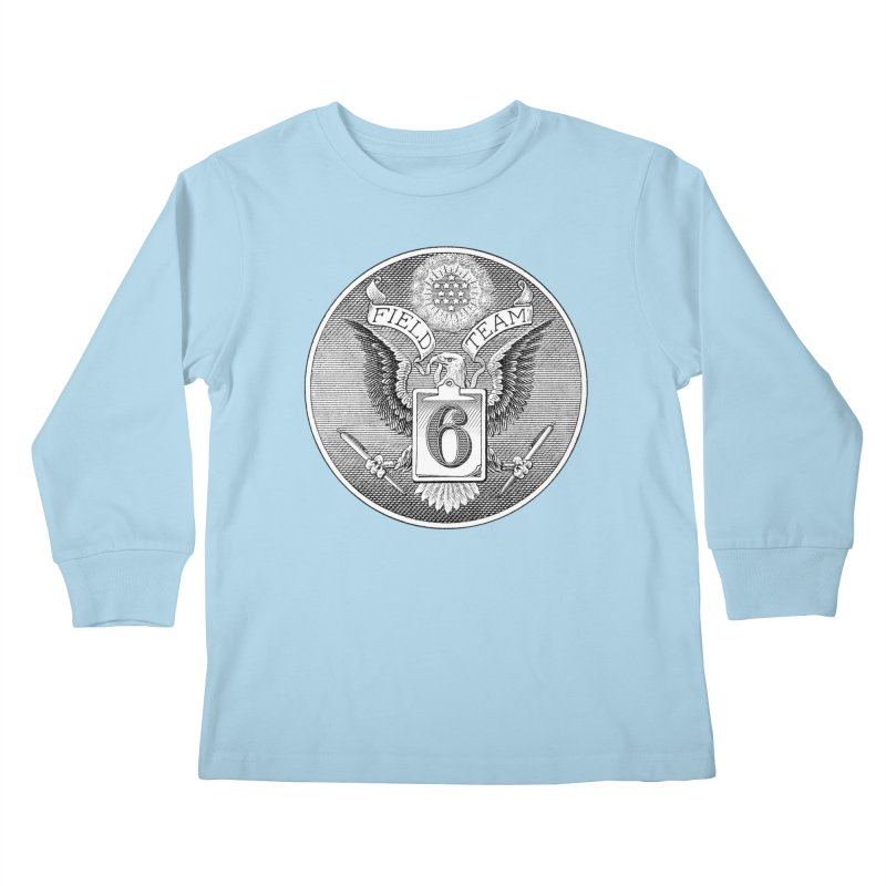 Field Team 6 Logo Gear Kids Longsleeve T-Shirt by Field Team 6 Store