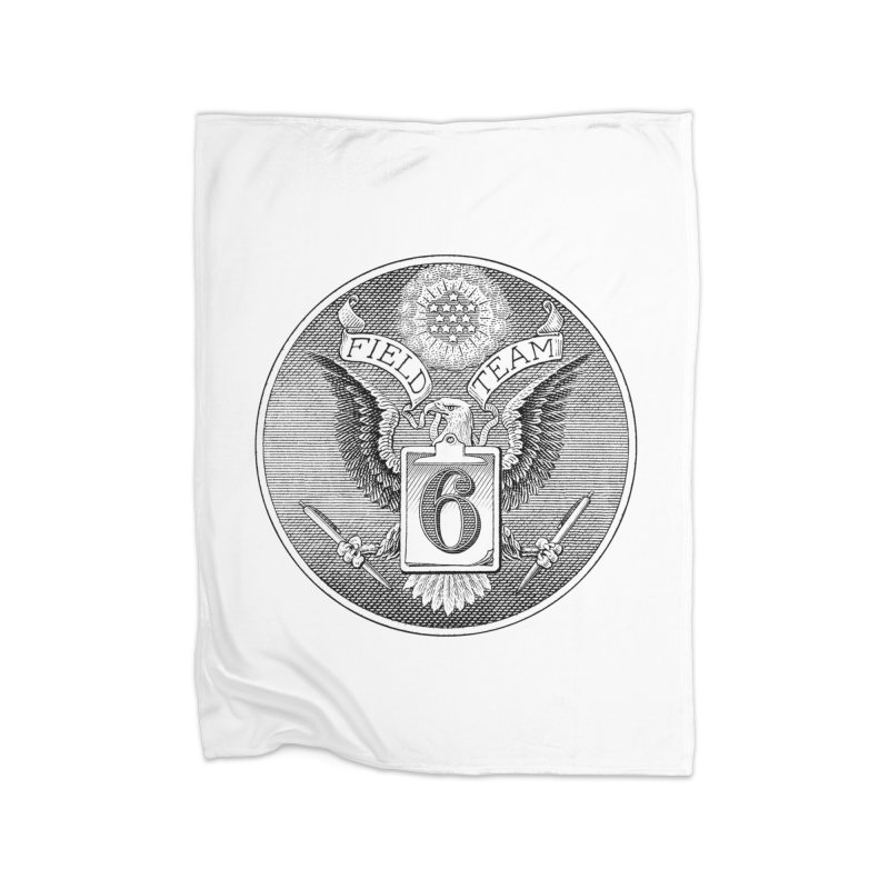 Field Team 6 Logo Gear Home Fleece Blanket Blanket by Field Team 6 Store