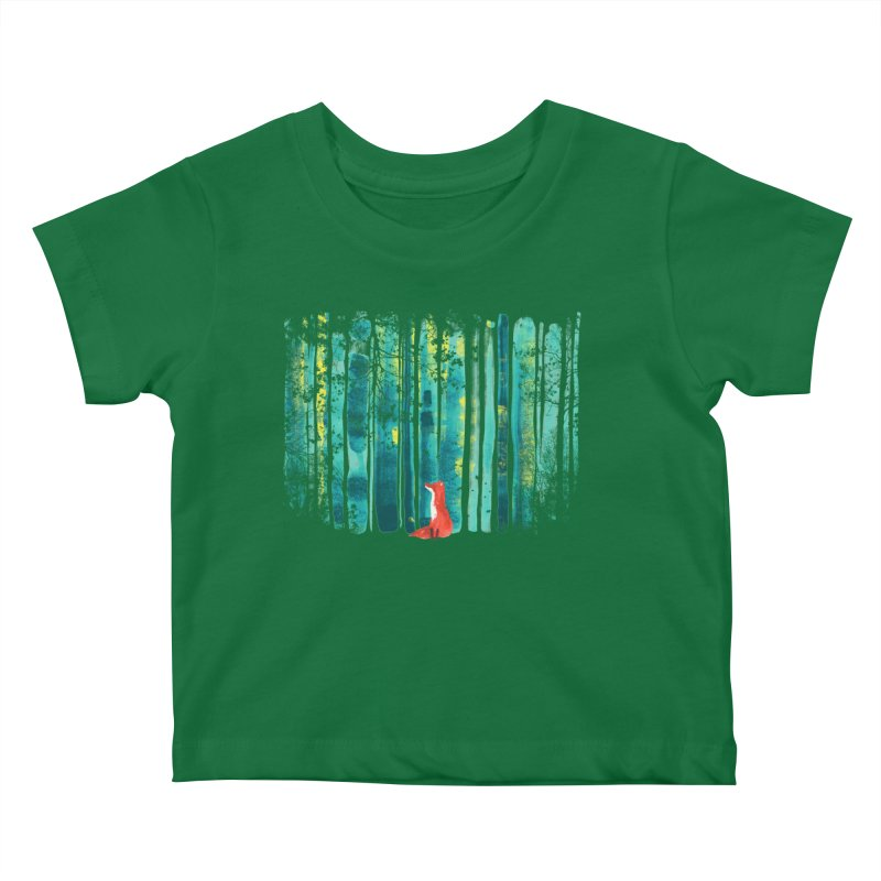 Lone Fox Kids Baby T-Shirt by Trabu - Graphic Art Shop