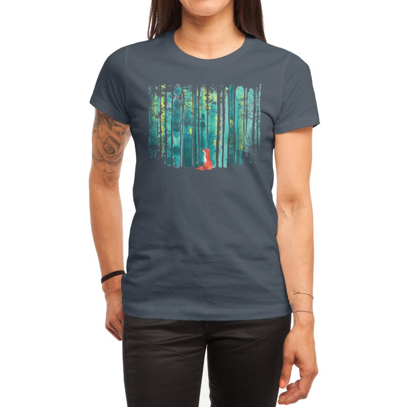 Lone Fox Women's T-Shirt by Trabu - Graphic Art Shop