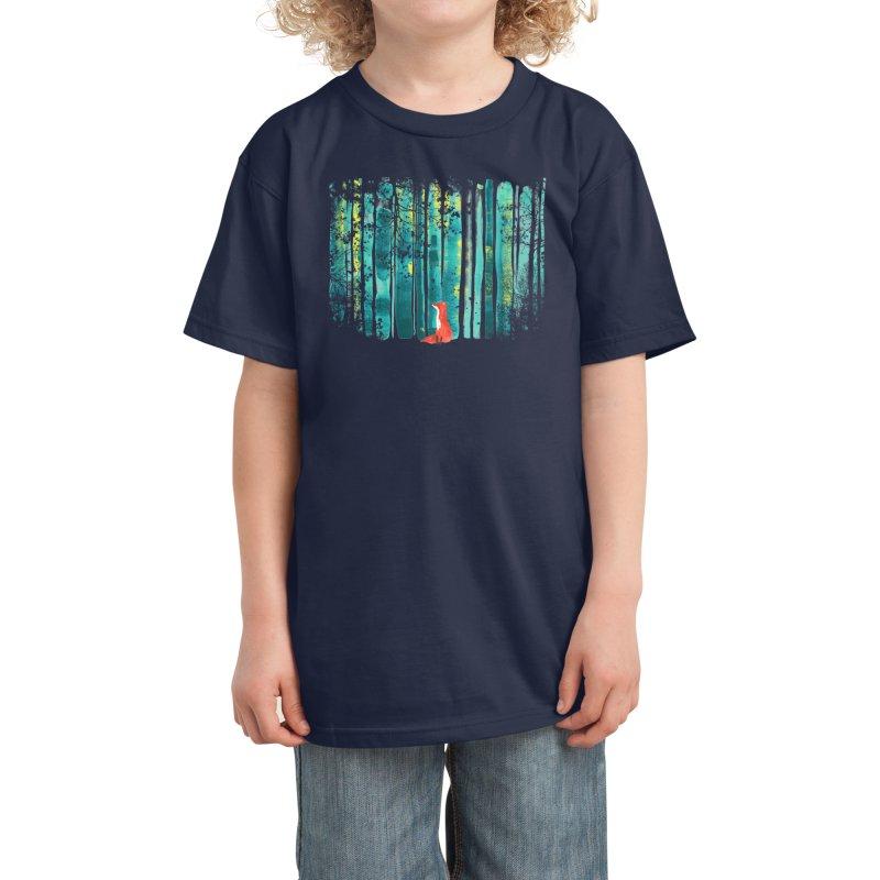 Lone Fox Kids T-Shirt by Trabu - Graphic Art Shop