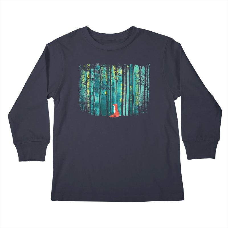 Lone Fox Kids Longsleeve T-Shirt by Trabu - Graphic Art Shop
