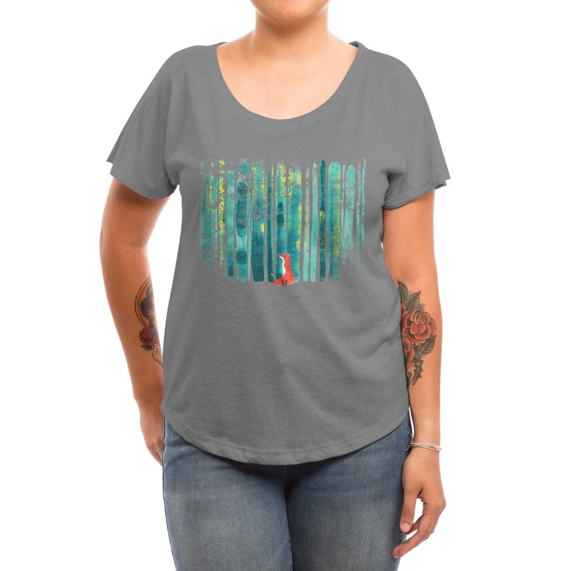 Lone Fox Women's Scoop Neck by Trabu - Graphic Art Shop