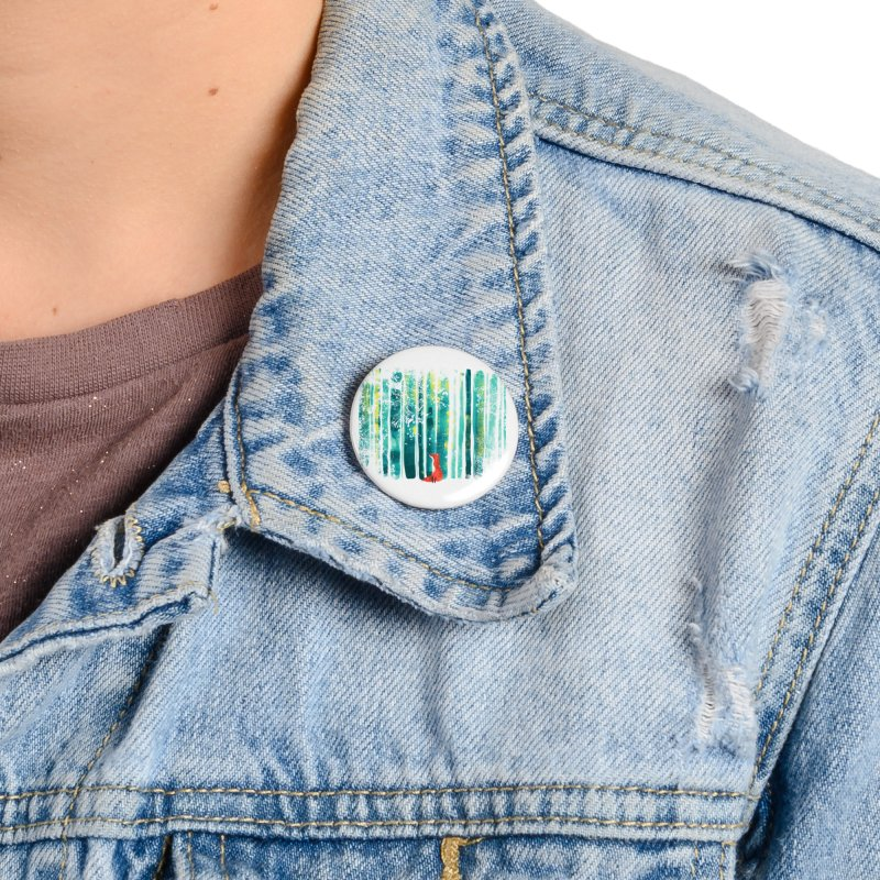 Lone Fox Accessories Button by Trabu - Graphic Art Shop