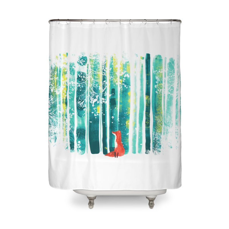 Lone Fox Home Shower Curtain by Trabu - Graphic Art Shop