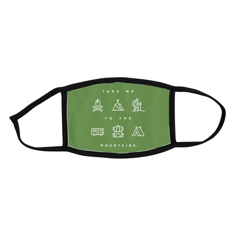 Take me to the mountains Accessories Face Mask by Fighting for Nature