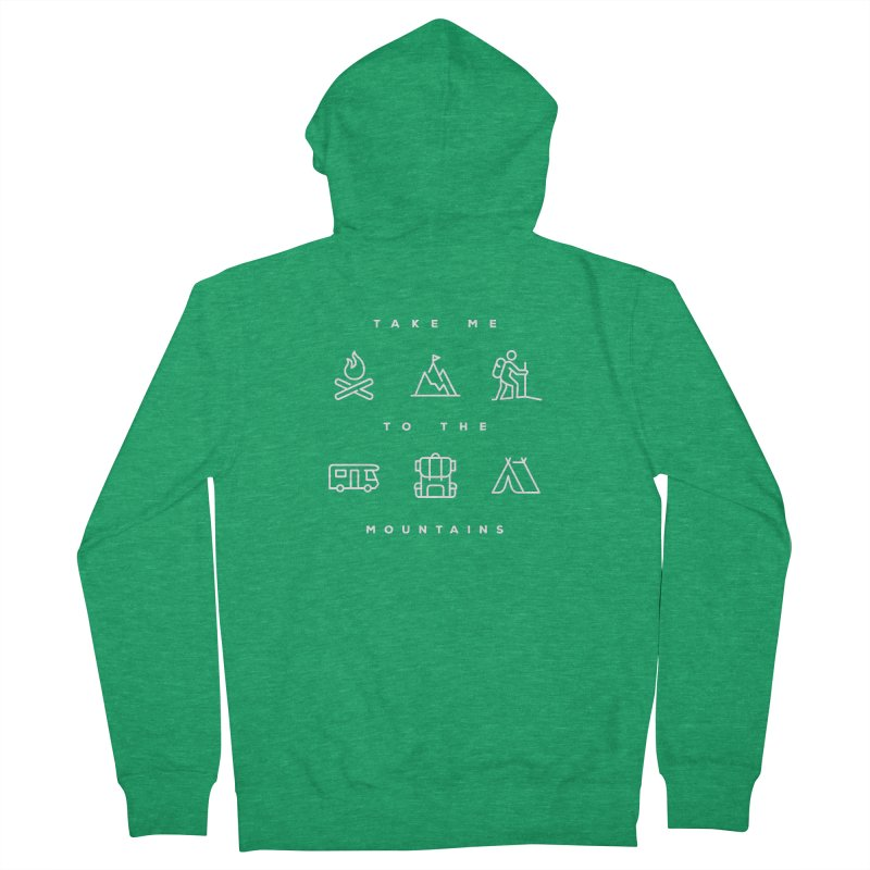 Take me to the mountains ALL GENDER Zip-Up Hoody by Fighting for Nature