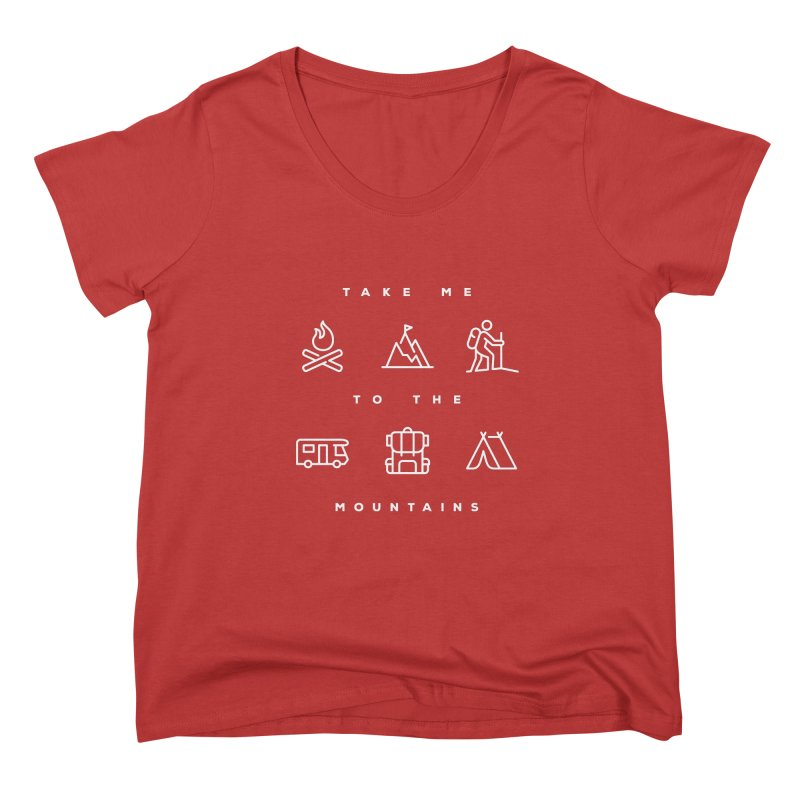 Take me to the mountains FEMININE Scoop Neck by Fighting for Nature