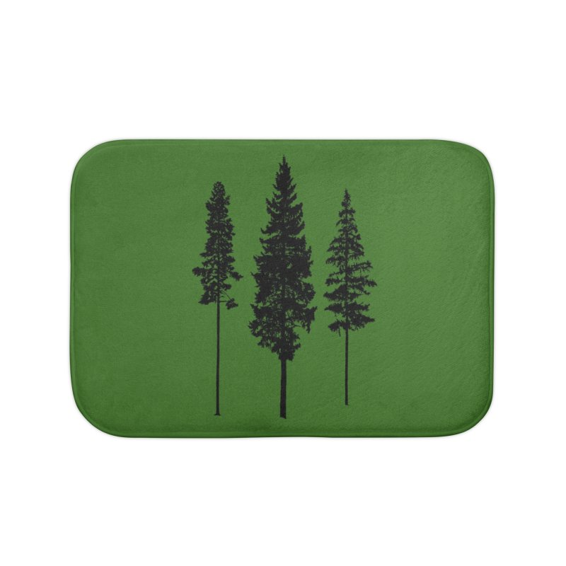 Minimalist Skinny Pine Trees WALL & DECOR Bath Mat by Fighting for Nature