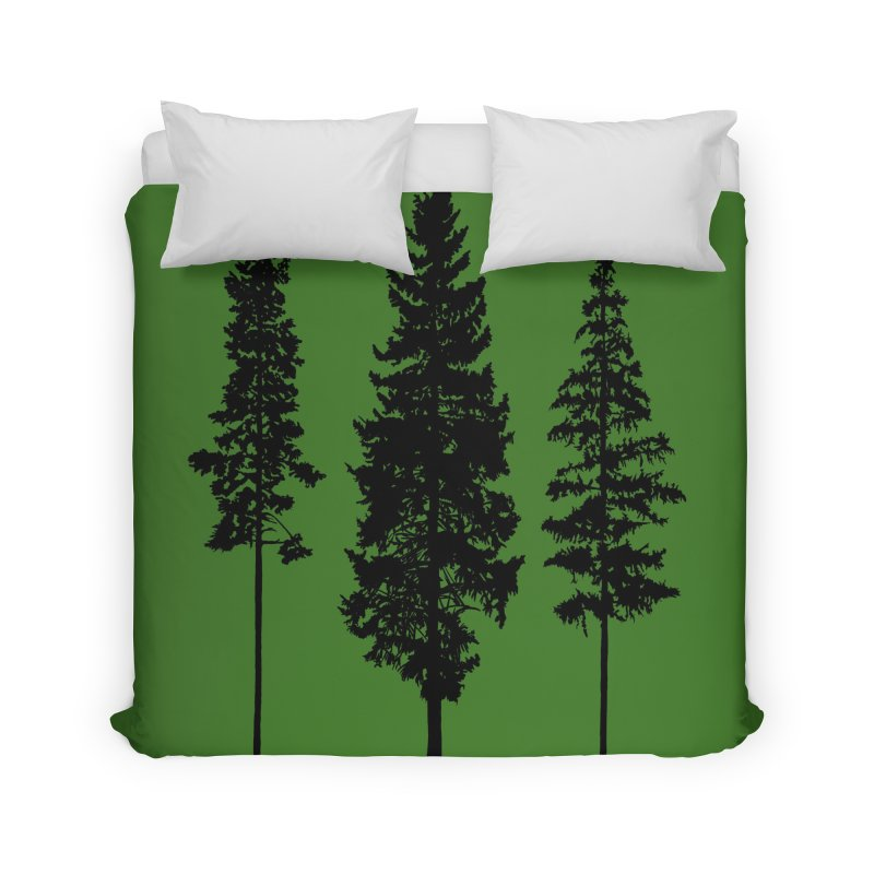 Minimalist Skinny Pine Trees WALL & DECOR Duvet by Fighting for Nature