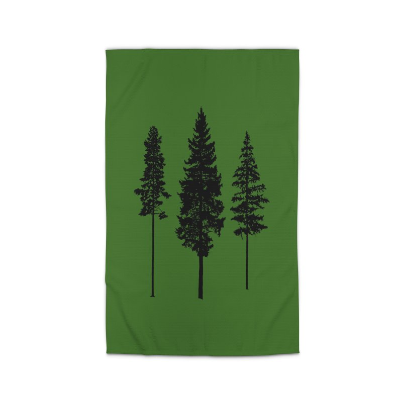 Minimalist Skinny Pine Trees WALL & DECOR Rug by Fighting for Nature