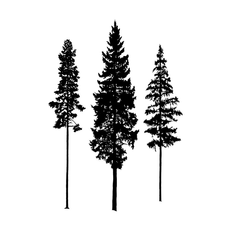 Minimalist Skinny Pine Trees Accessories Face Mask by Fighting for Nature