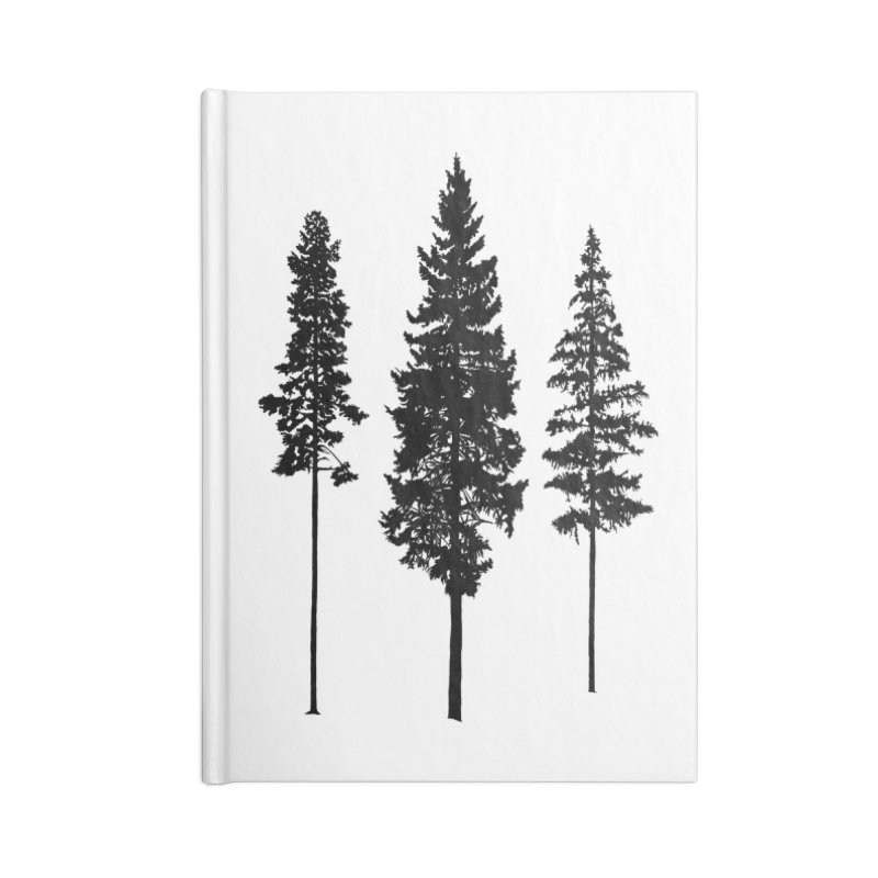 Minimalist Skinny Pine Trees Accessories Notebook by Fighting for Nature