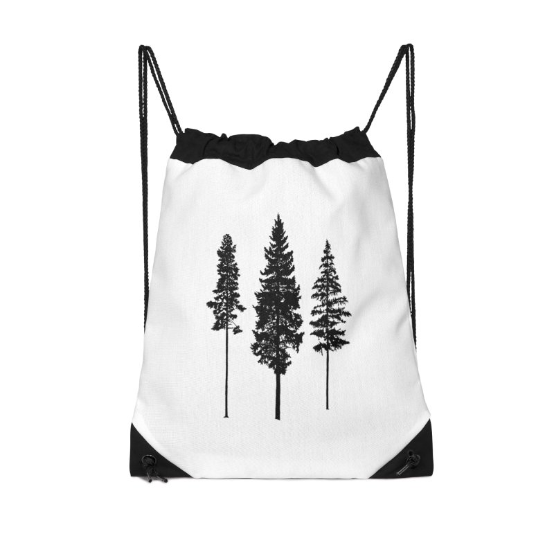 Minimalist Skinny Pine Trees Accessories Bag by Fighting for Nature