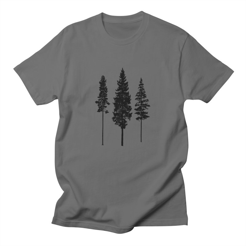 Minimalist Skinny Pine Trees ALL GENDER T-Shirt by Fighting for Nature