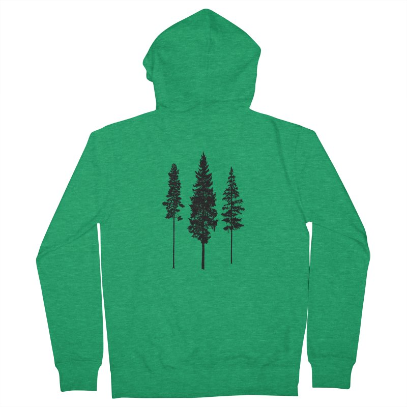 Minimalist Skinny Pine Trees ALL GENDER Zip-Up Hoody by Fighting for Nature