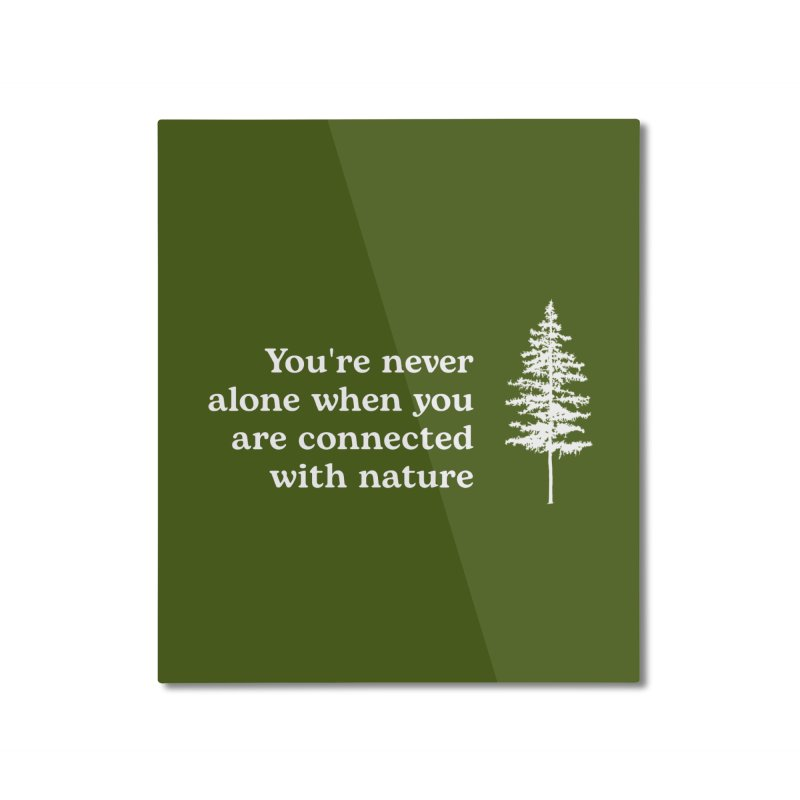 Connected with Nature WALL & DECOR Mounted Aluminum Print by Fighting for Nature
