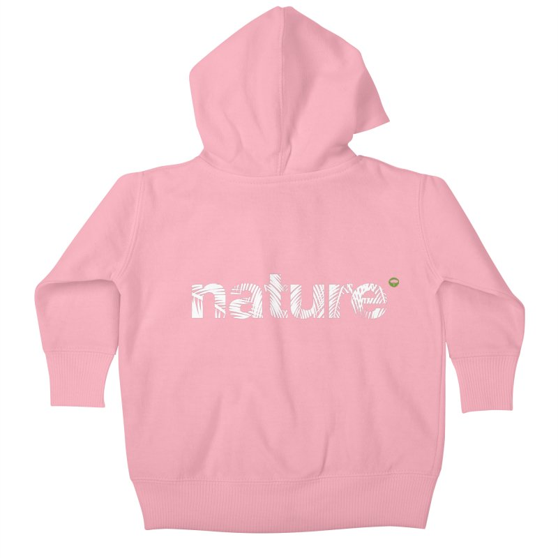 Nature Palm Trees Kids Baby Zip-Up Hoody by Fighting for Nature