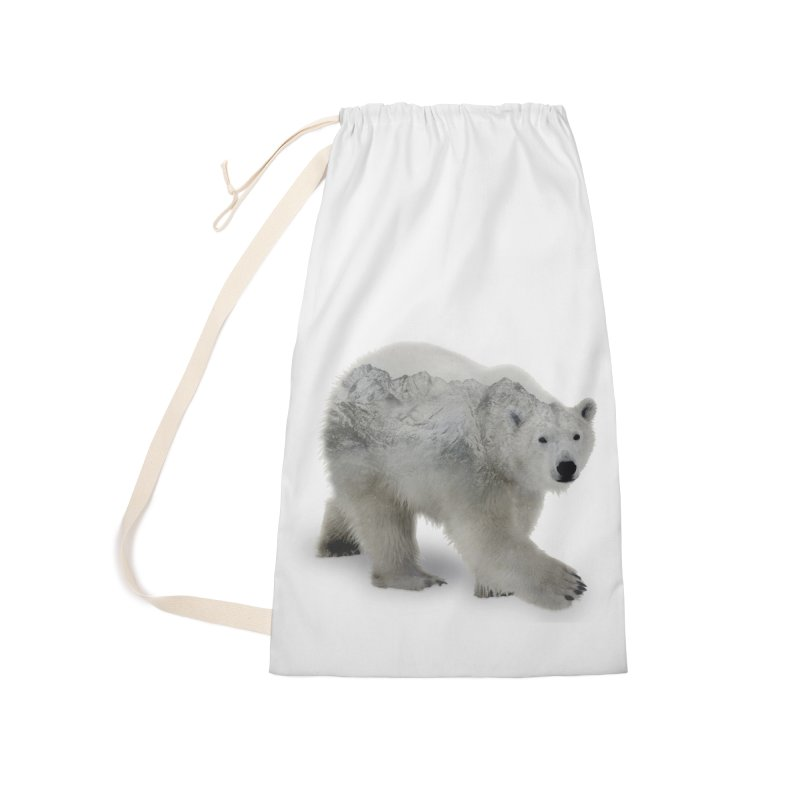 Polar Bear and Mountains Accessories Bag by Fighting for Nature