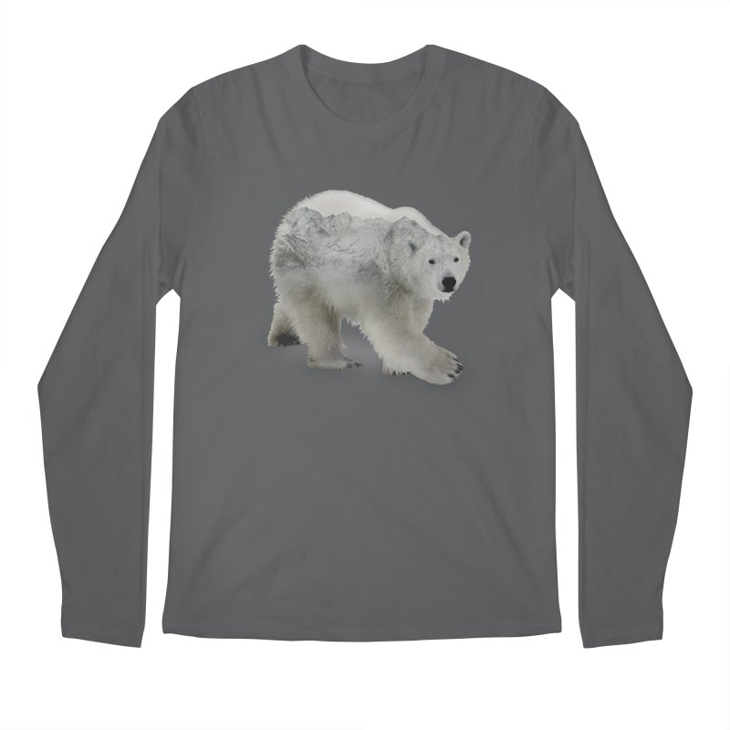 Polar Bear and Mountains ALL GENDER Longsleeve T-Shirt by Fighting for Nature
