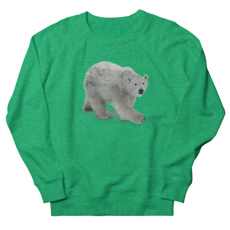 Polar Bear and Mountains ALL GENDER Sweatshirt by Fighting for Nature
