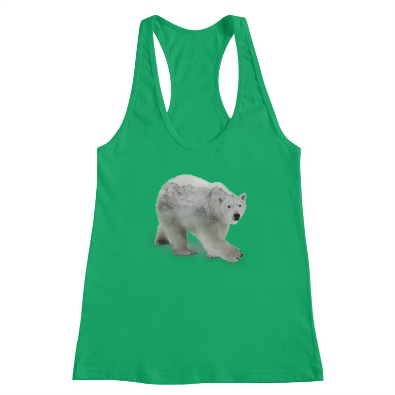 Polar Bear and Mountains FEMININE Tank by Fighting for Nature