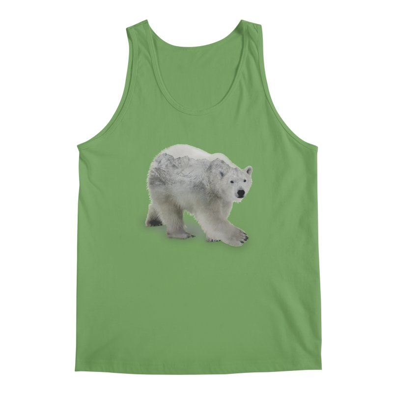 Polar Bear and Mountains ALL GENDER Tank by Fighting for Nature