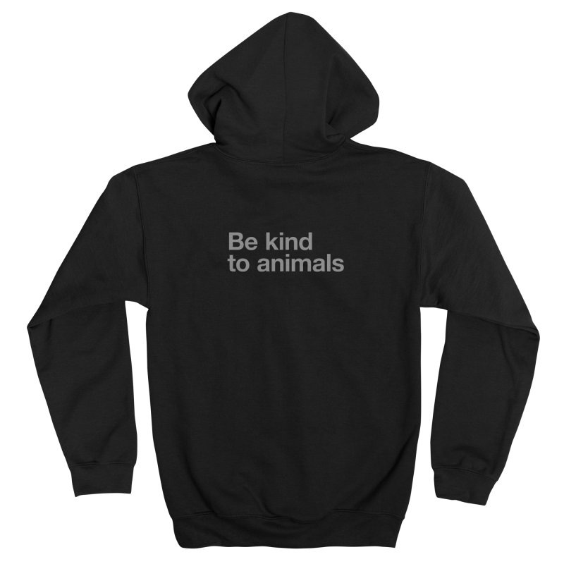 Be kind to animals FEMININE Zip-Up Hoody by Fighting for Nature