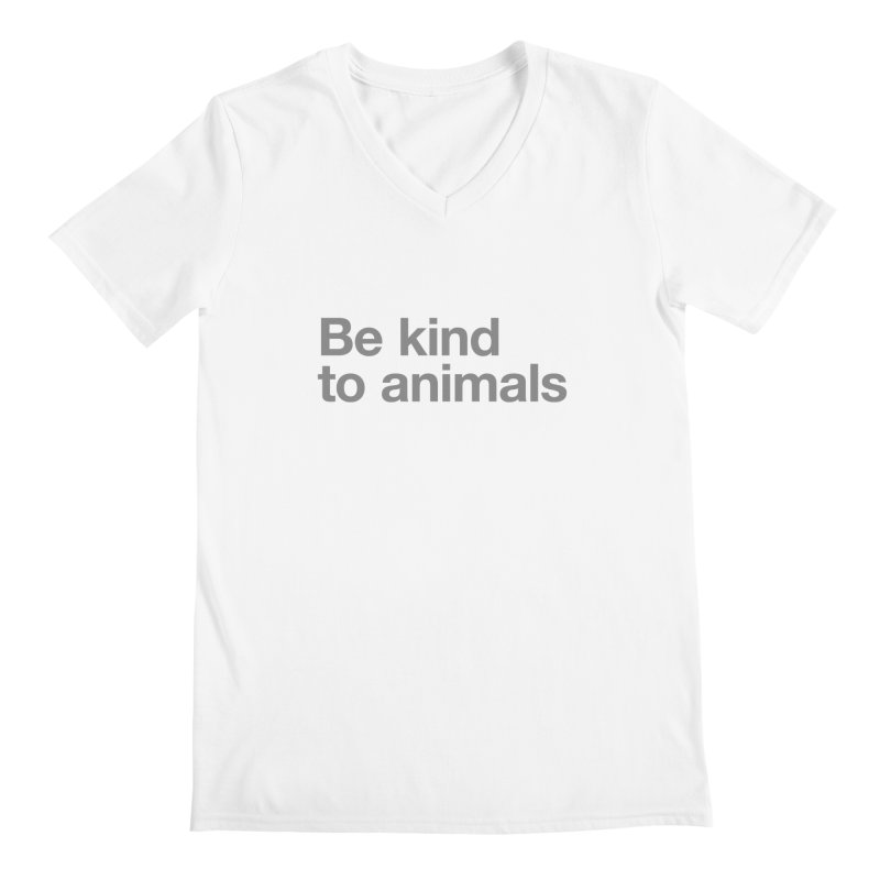 Be kind to animals ALL GENDER V-Neck by Fighting for Nature
