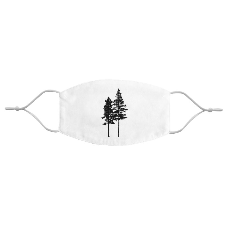 Minimalist 2 Skinny Pine Trees Accessories Face Mask by Fighting for Nature