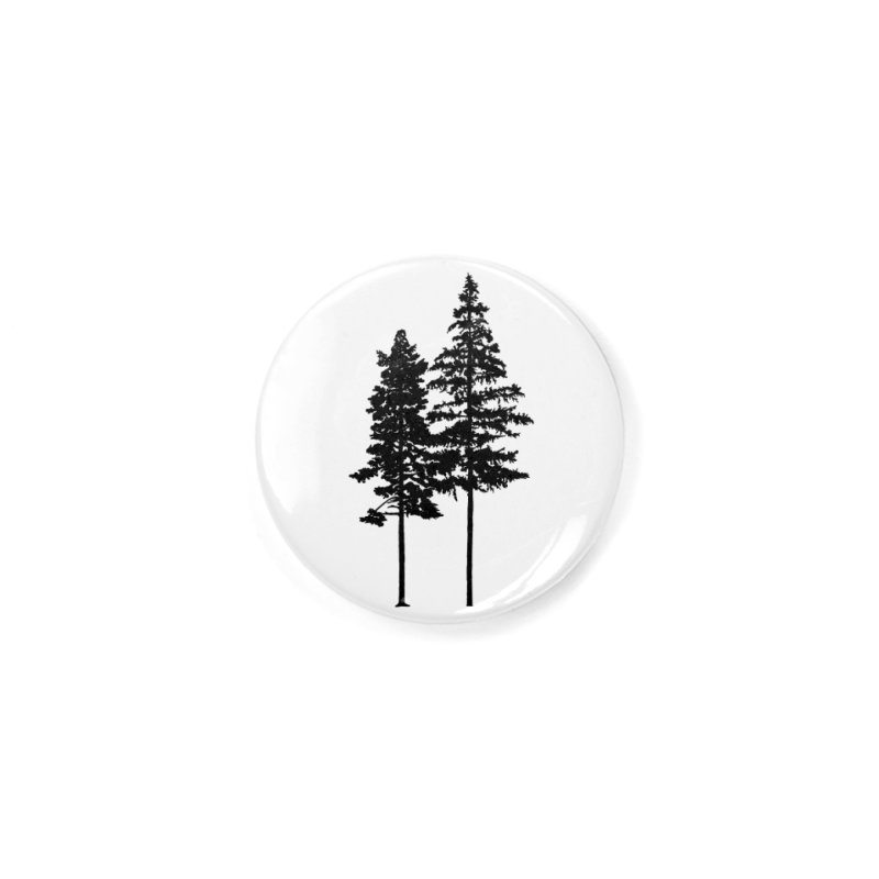 Minimalist 2 Skinny Pine Trees Accessories Button by Fighting for Nature
