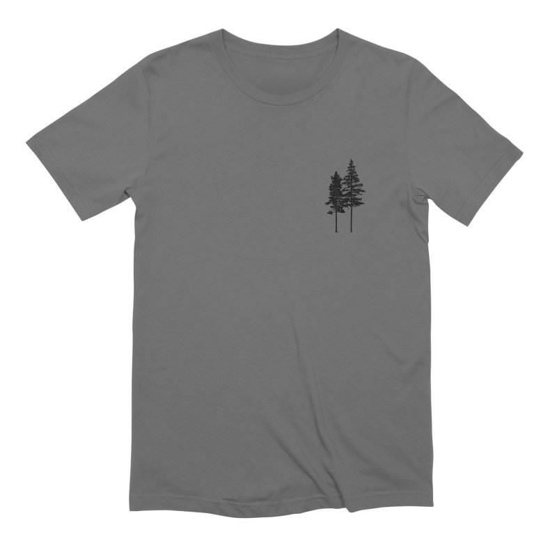 Minimalist 2 Skinny Pine Trees ALL GENDER T-Shirt by Fighting for Nature