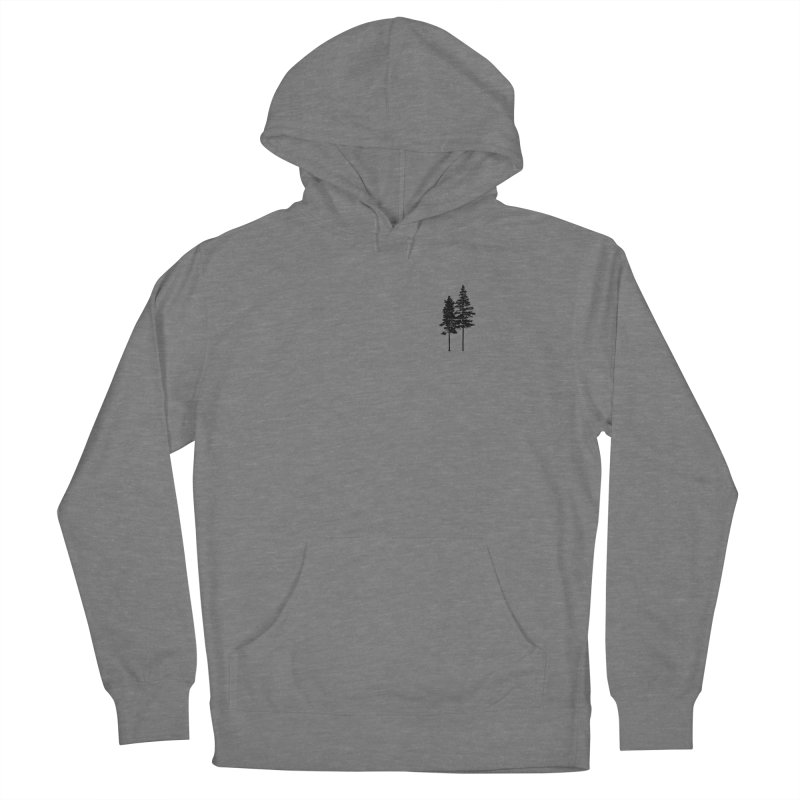Minimalist 2 Skinny Pine Trees FEMININE Pullover Hoody by Fighting for Nature