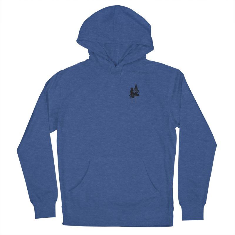 Minimalist 2 Skinny Pine Trees ALL GENDER Pullover Hoody by Fighting for Nature