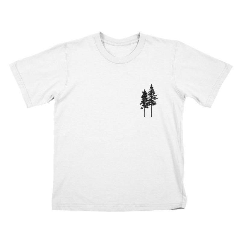 Minimalist 2 Skinny Pine Trees Kids T-Shirt by Fighting for Nature