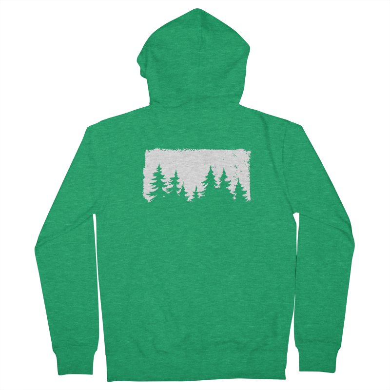 Pine Forest ALL GENDER Zip-Up Hoody by Fighting for Nature