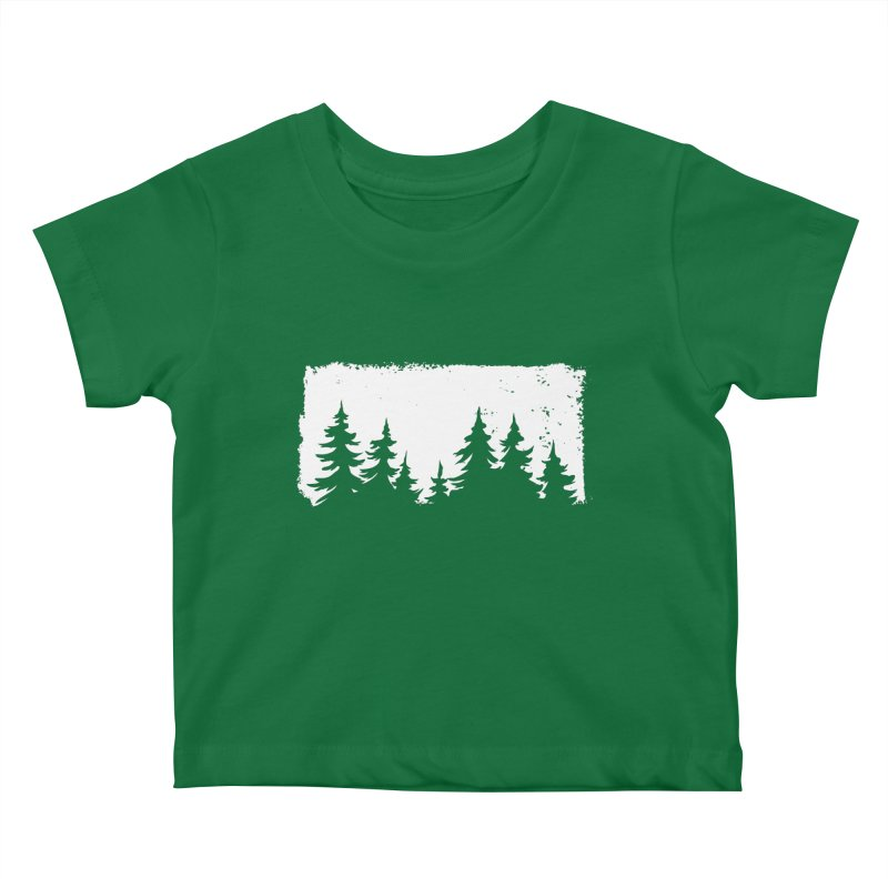 Pine Forest Kids Baby T-Shirt by Fighting for Nature