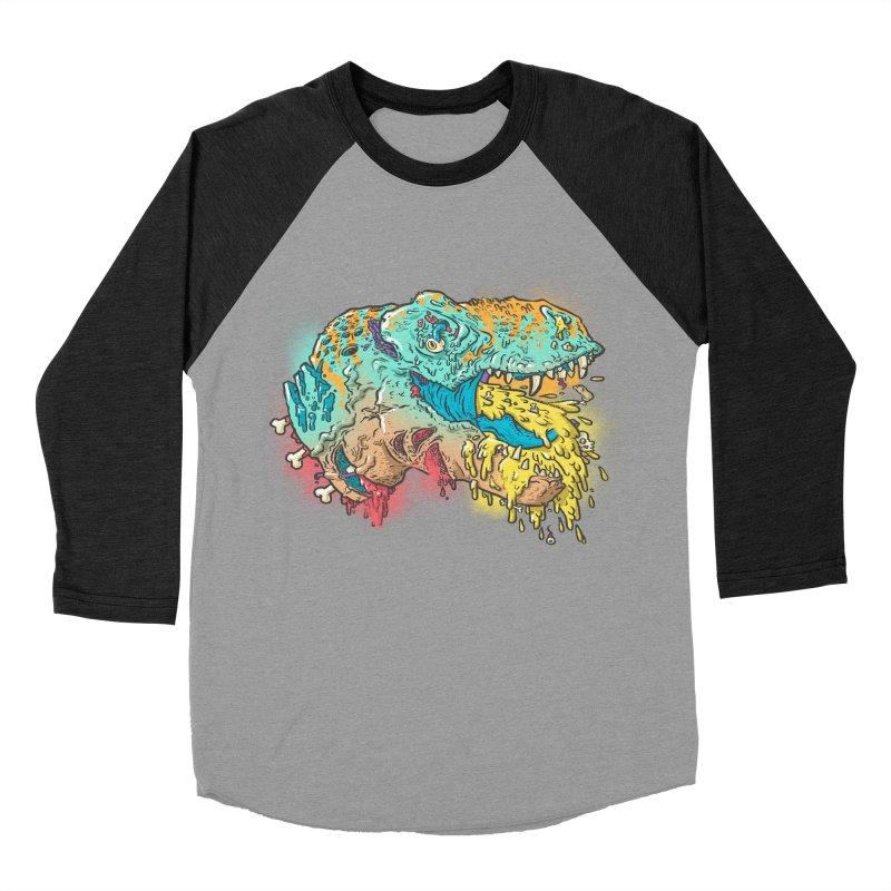 Jurassick Puke Men's Baseball Triblend Longsleeve T-Shirt by fightstacy