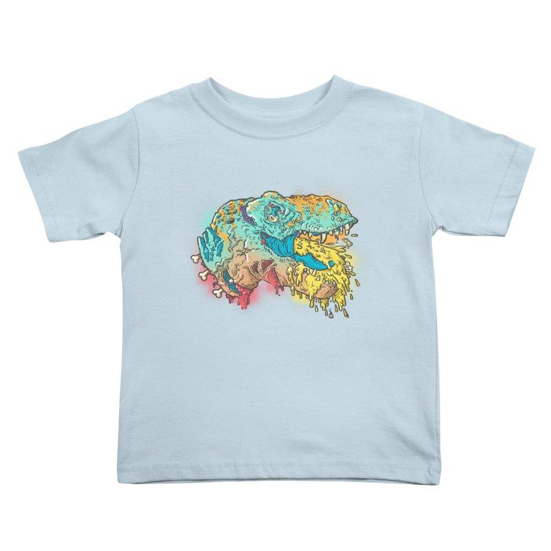 Jurassick Puke Kids Toddler T-Shirt by fightstacy