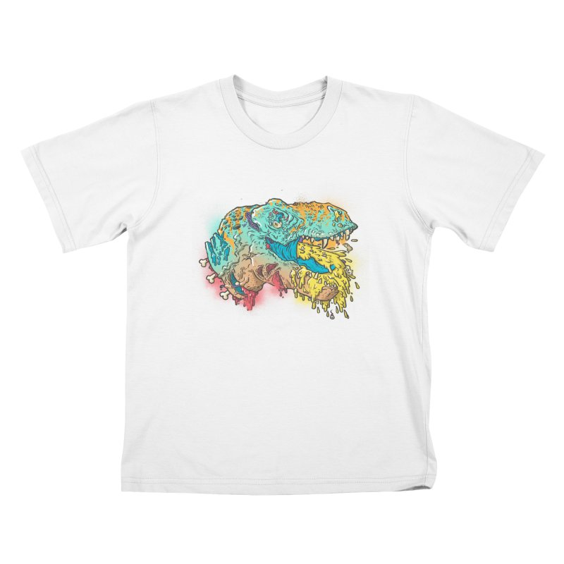 Jurassick Puke Kids T-Shirt by fightstacy