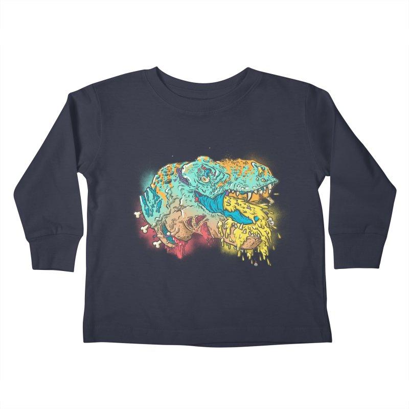 Jurassick Puke Kids Toddler Longsleeve T-Shirt by fightstacy