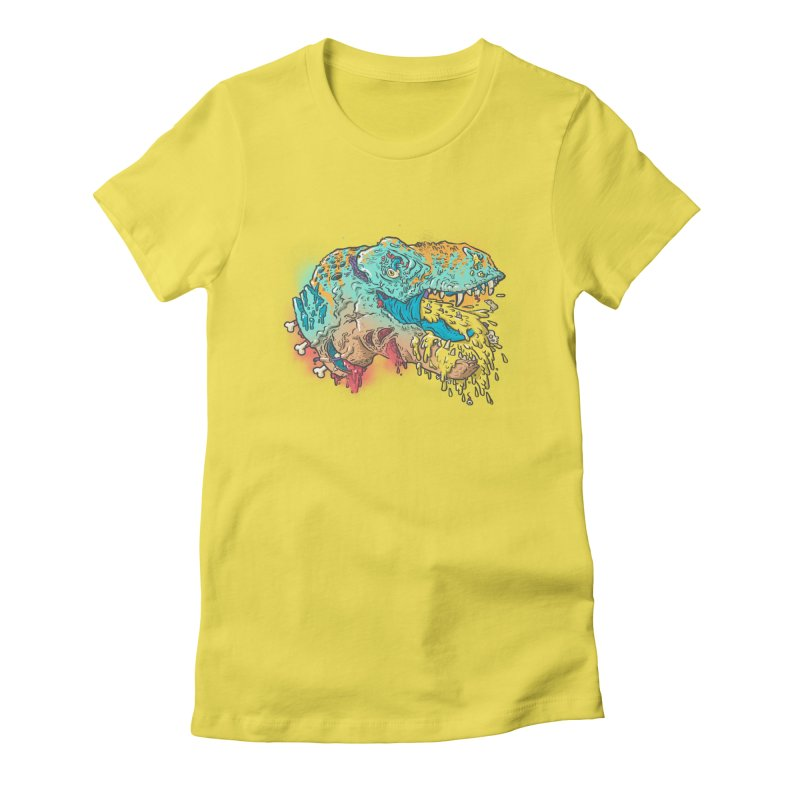 Jurassick Puke Women's Fitted T-Shirt by fightstacy