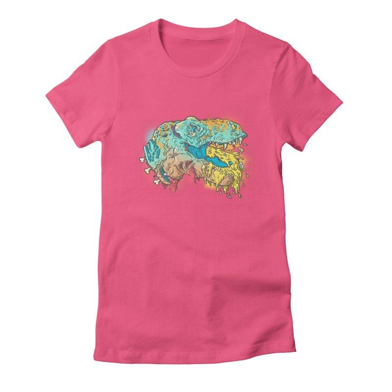 Jurassick Puke Women's Fitted T-Shirt by fightstacy
