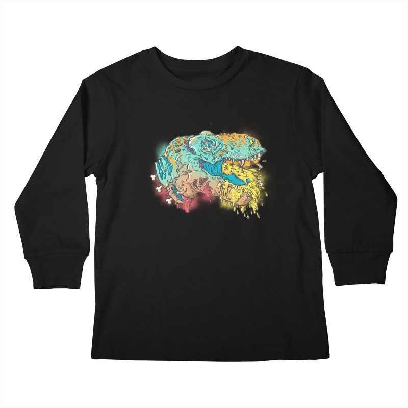 Jurassick Puke Kids Longsleeve T-Shirt by fightstacy