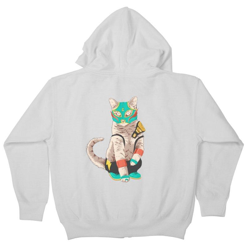 El Gato Asesino Kids Zip-Up Hoody by fightstacy