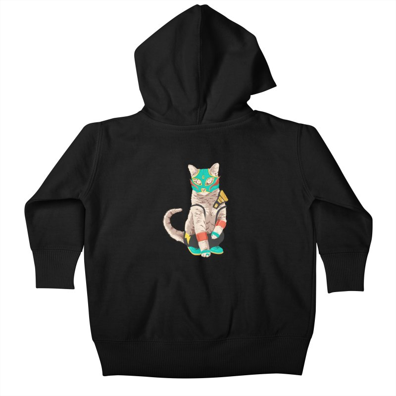 El Gato Asesino Kids Baby Zip-Up Hoody by fightstacy