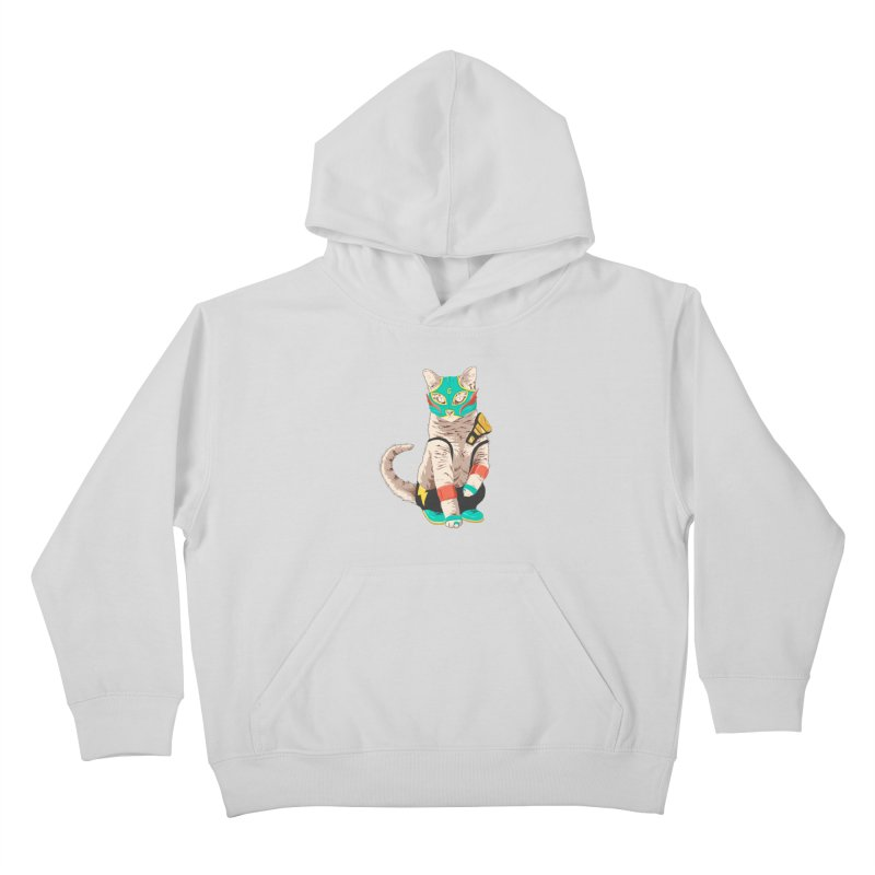 El Gato Asesino Kids Pullover Hoody by fightstacy