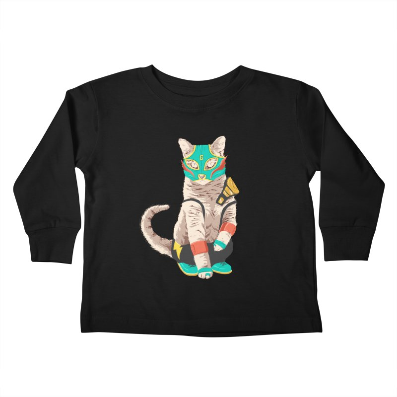 El Gato Asesino Kids Toddler Longsleeve T-Shirt by fightstacy