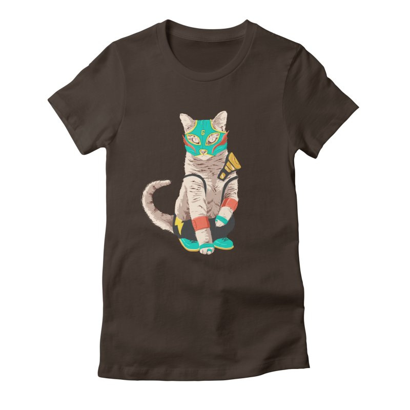 El Gato Asesino Women's Fitted T-Shirt by fightstacy