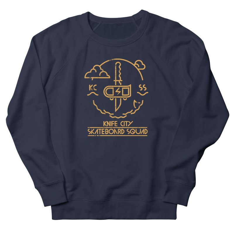 Knife City Skateboard Squad Men's French Terry Sweatshirt by fightstacy